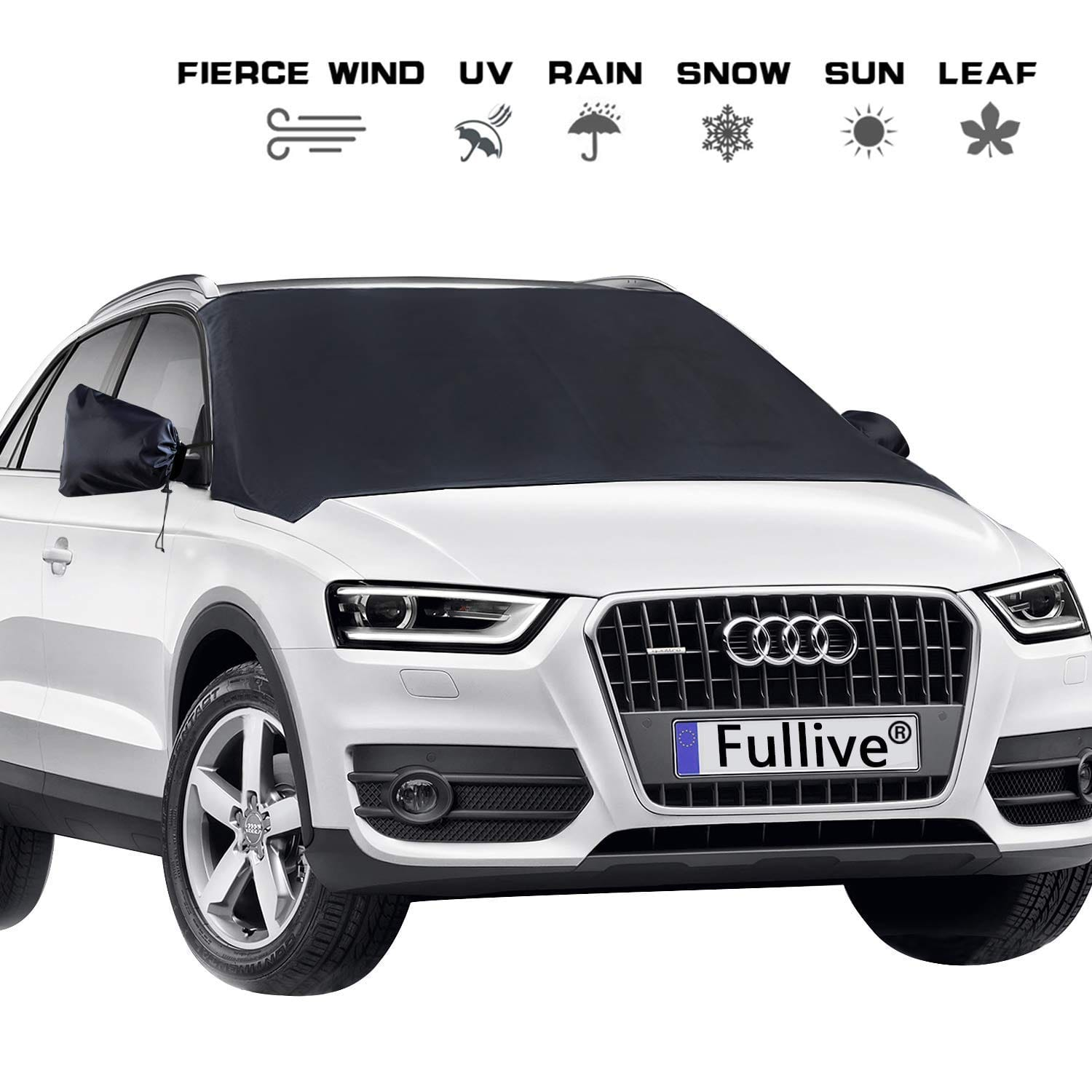 Premium Quality 300D Oxford Fabric Car Snow Cover Extra Large Magnets Snow Cover Universal Fit Any Car Truck Van and SUV Windshield Snow Cover